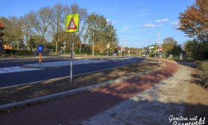 01-10-2014 - Vernieuwde fietsoversteek, Lunterseweg-Hertespoor - Barneveld