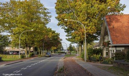 Heden 2014 - Links, Slangenburg, in het midden de rotonde Lunterseweg, Rooseveltstraat en Wildzoom. Rechts, Arendshorst en 't Beekhuisje - Barneveld